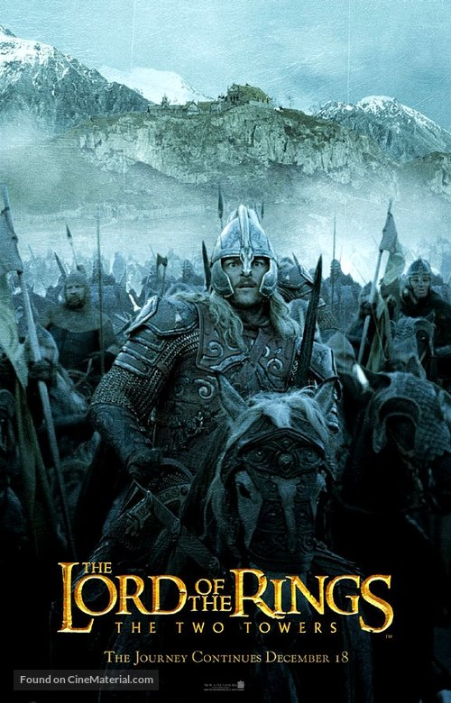 the lord of the rings poster part 1 2002 the two towers high quality HD printable emperors warriors horses