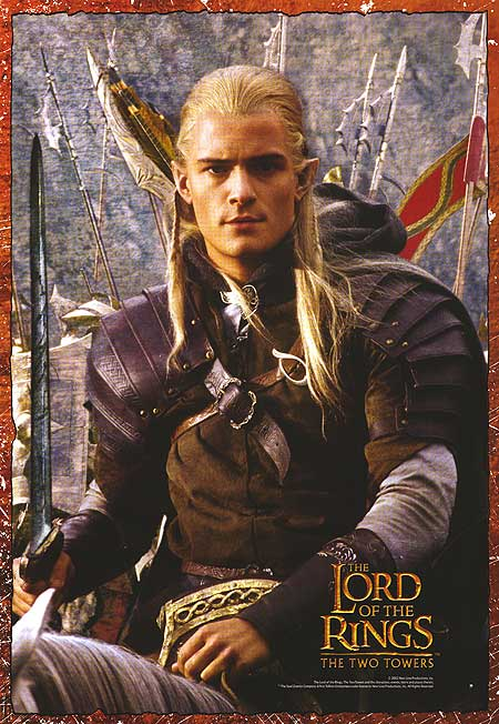the lord of the rings poster part 1 2002 the two towers high quality HD printable orlando bloom elf