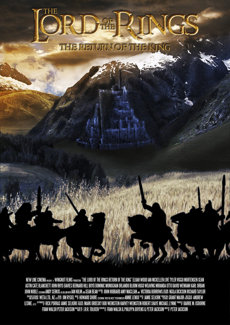 the lord of the rings poster part 3 2003 the return of the king high quality HD printable all characters shadow black warrior wallpaper