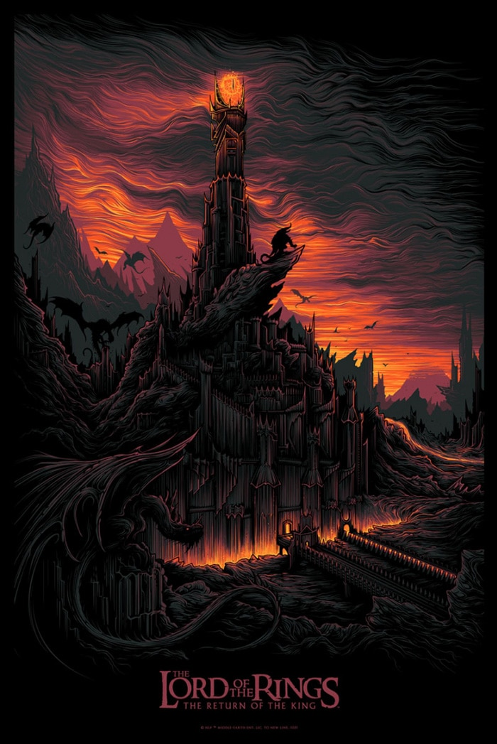 the lord of the rings poster part 3 2003 the return of the king high quality HD printable wallpapers red dark mount doom sauron end lava