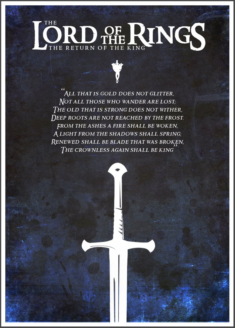 the lord of the rings poster part 3 2003 the return of the king high quality HD printable wallpapers sword quote