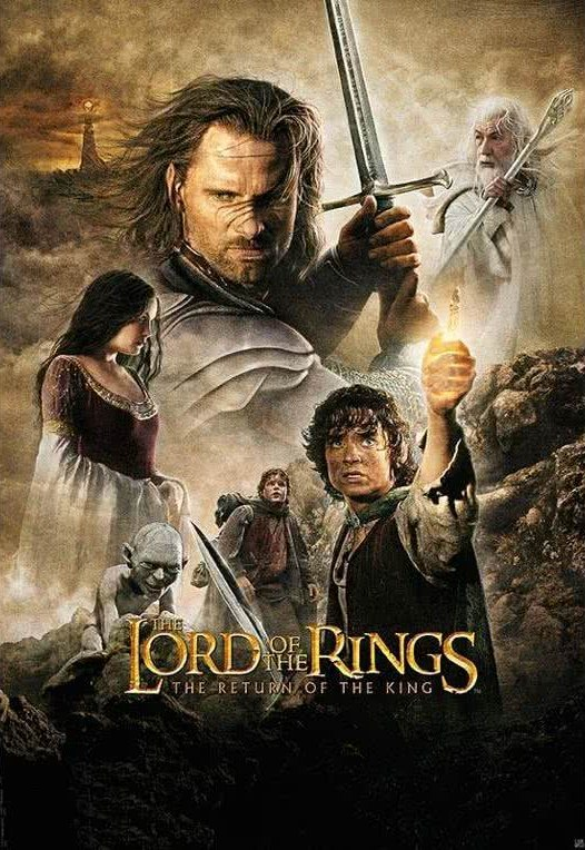 the lord of the rings poster part 3 2003 the return of the king high quality HD printable official poster