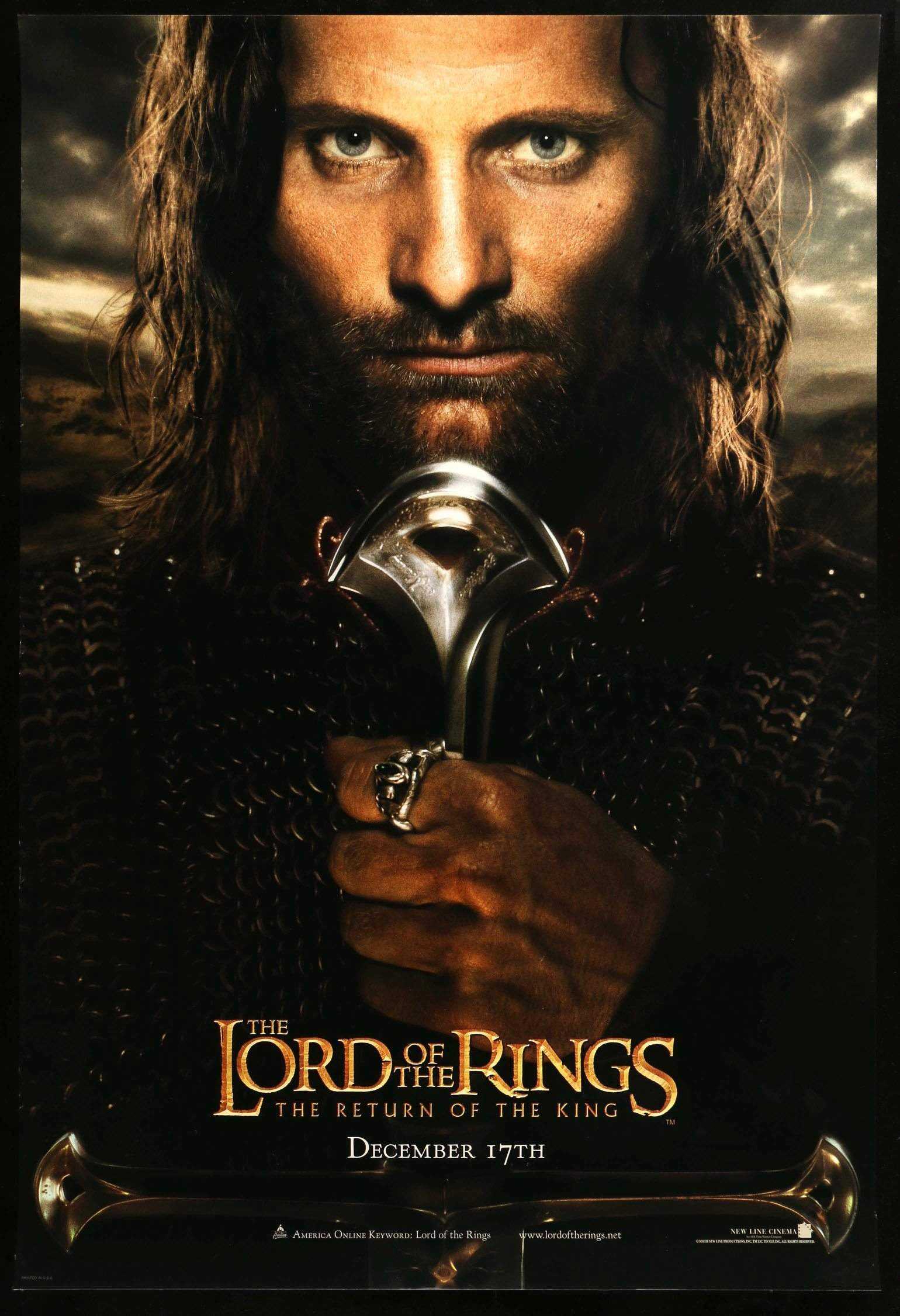 the lord of the rings poster part 3 2003 the return of the king high quality HD printable wallpapers aragorn