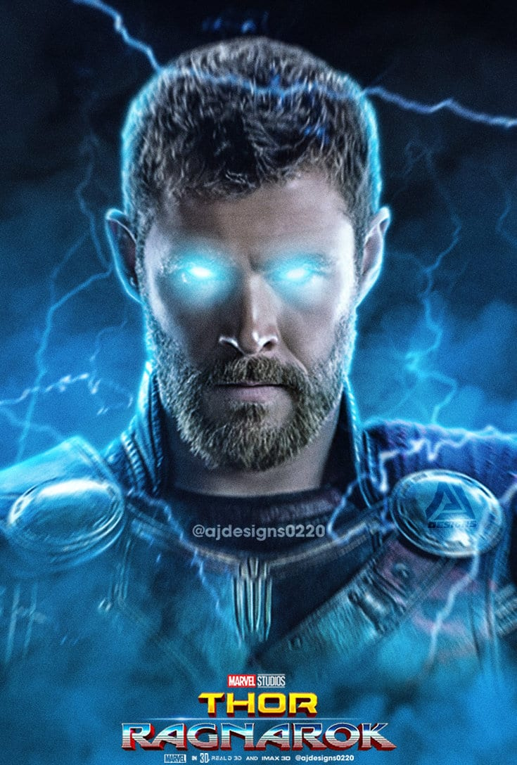 Thor-Ragnarok-HD-printable-posters-lightening-eyes-of-thor