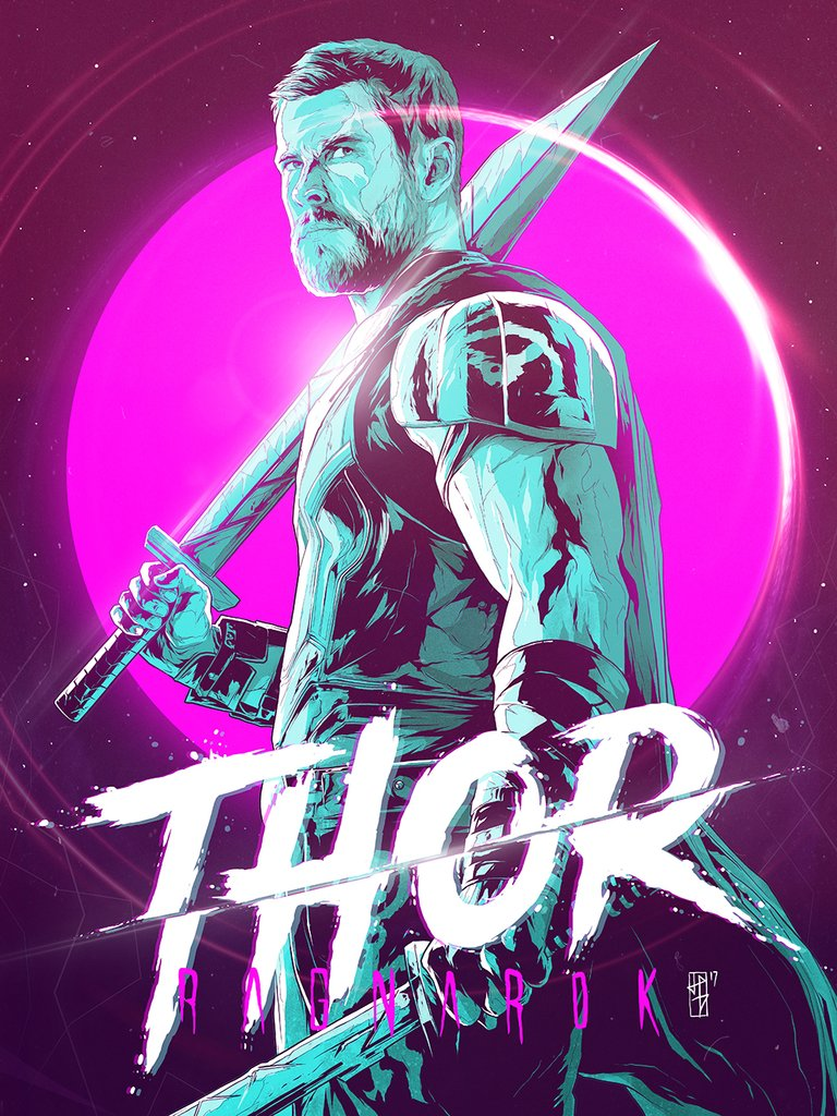 Thor-Ragnarok-HD-printable-posters-thor-cartoon-art-poster