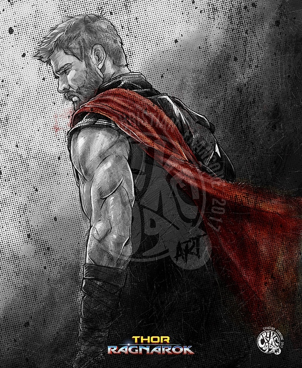Thor-Ragnarok-HD-printable-posters-thor-sketch-art