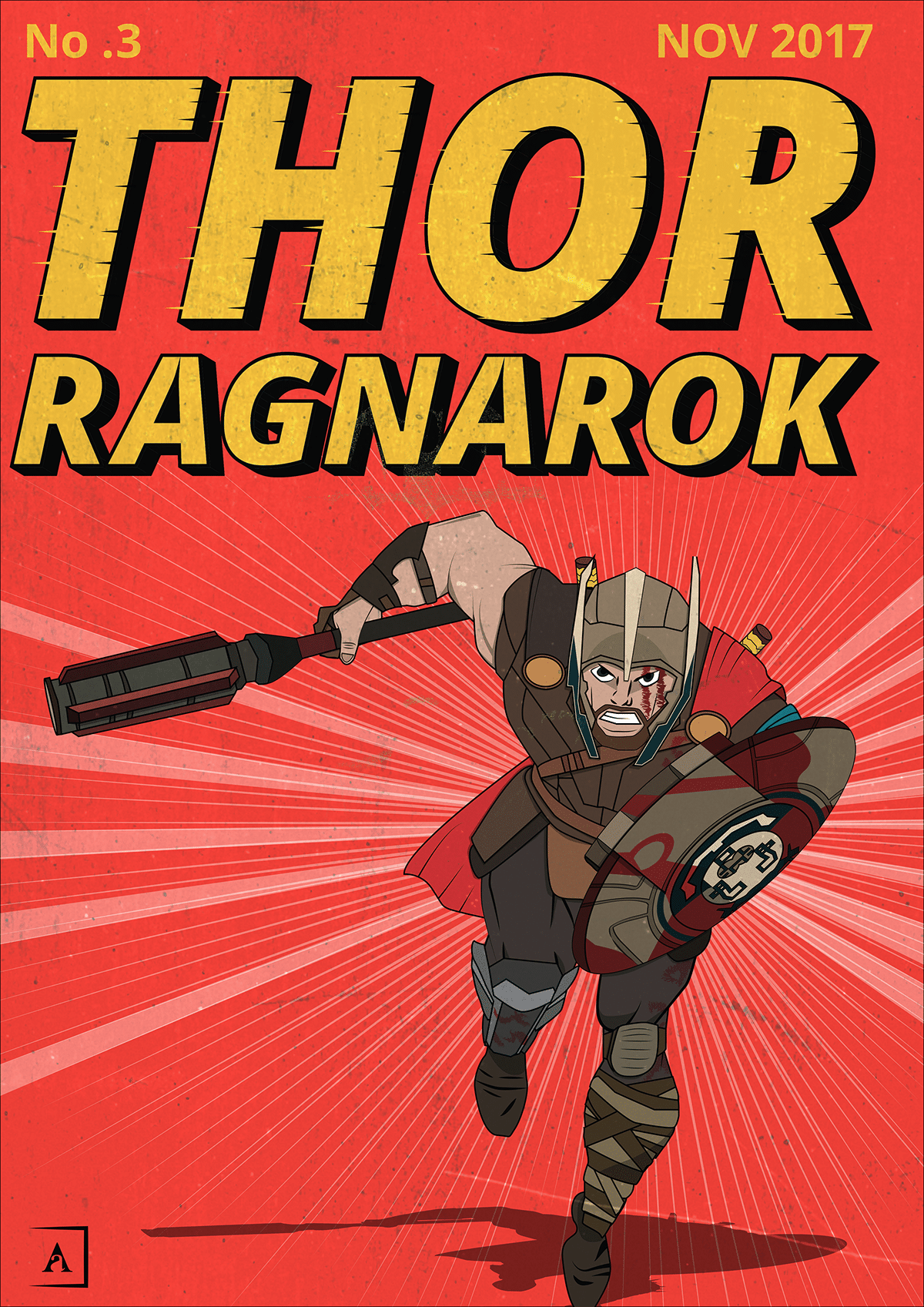 Thor-Ragnarok-HD-printable-posters-thor-animated-cartoon-art-poster