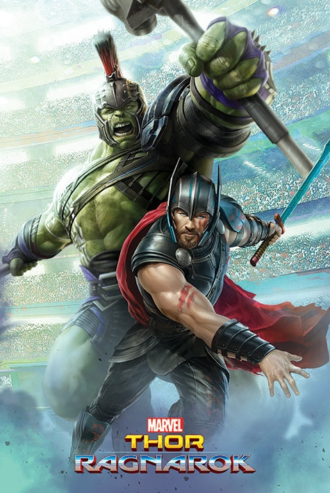 Thor-Ragnarok-HD-printable-posters-thor-and-hulk-animated-cartoon-best-poster