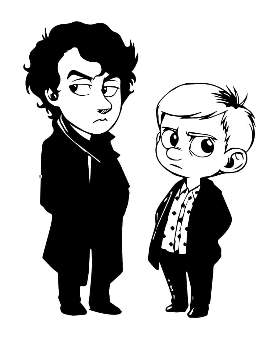 sherlock cartoon