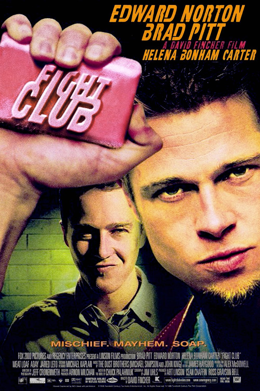fight club high quality HD printable wallpapers poster brad pitt official poster