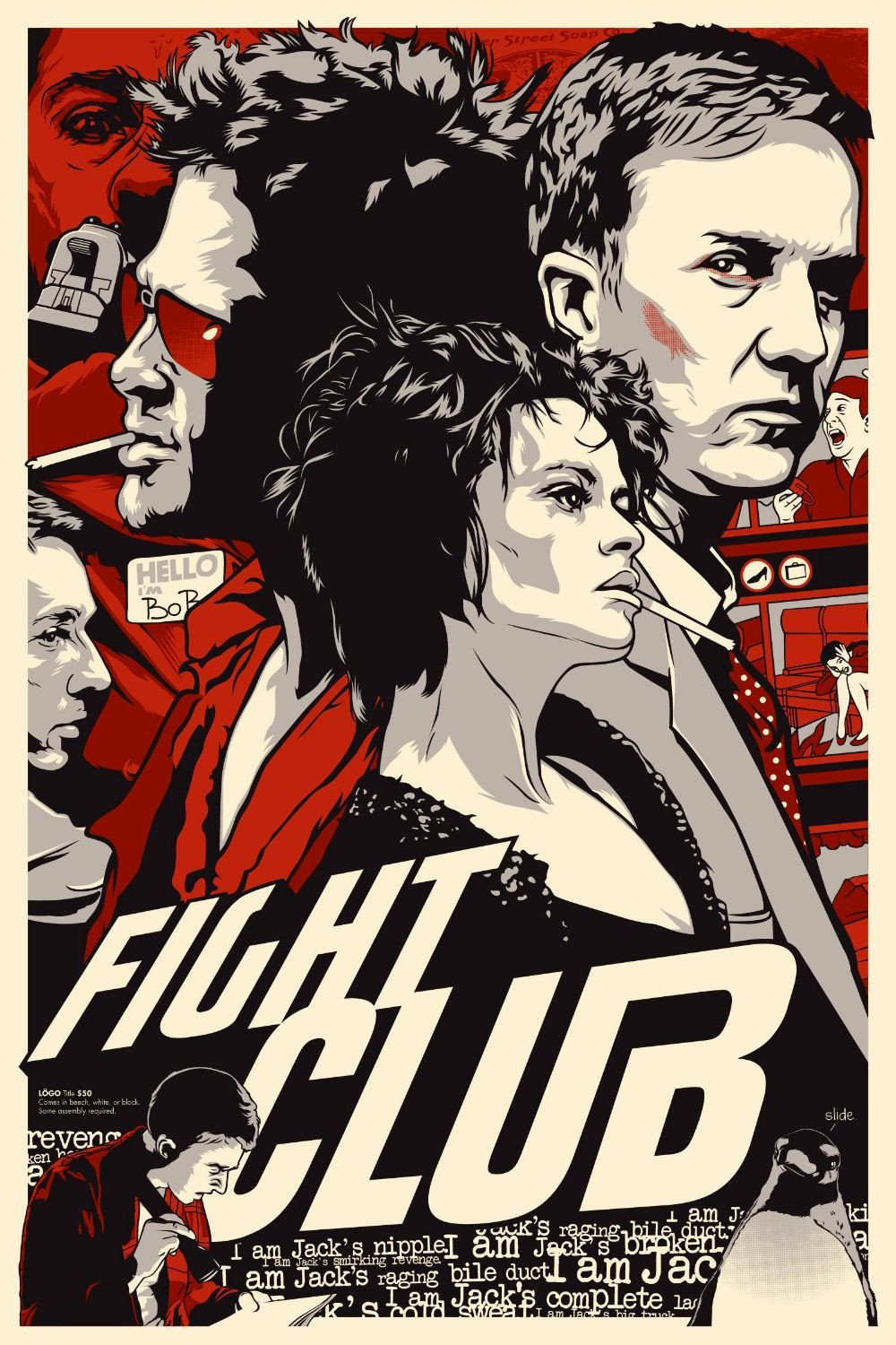 fight club high quality HD printable wallpapers poster classic old art animater brad pitt