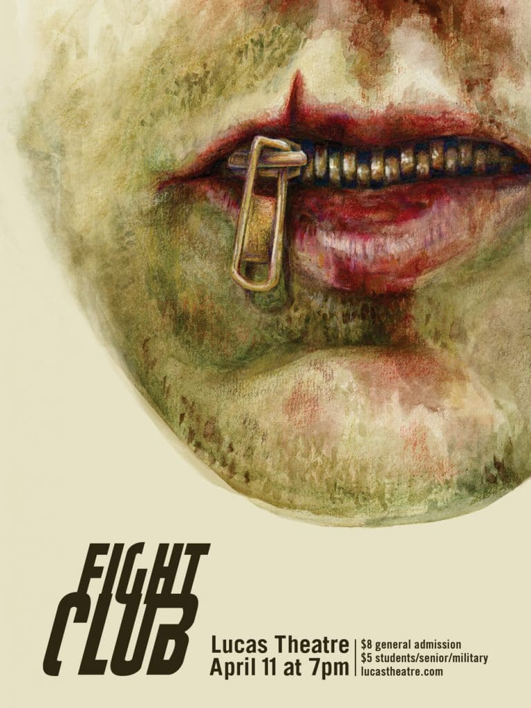 fight club high quality HD printable wallpapers poster art zip on mouth
