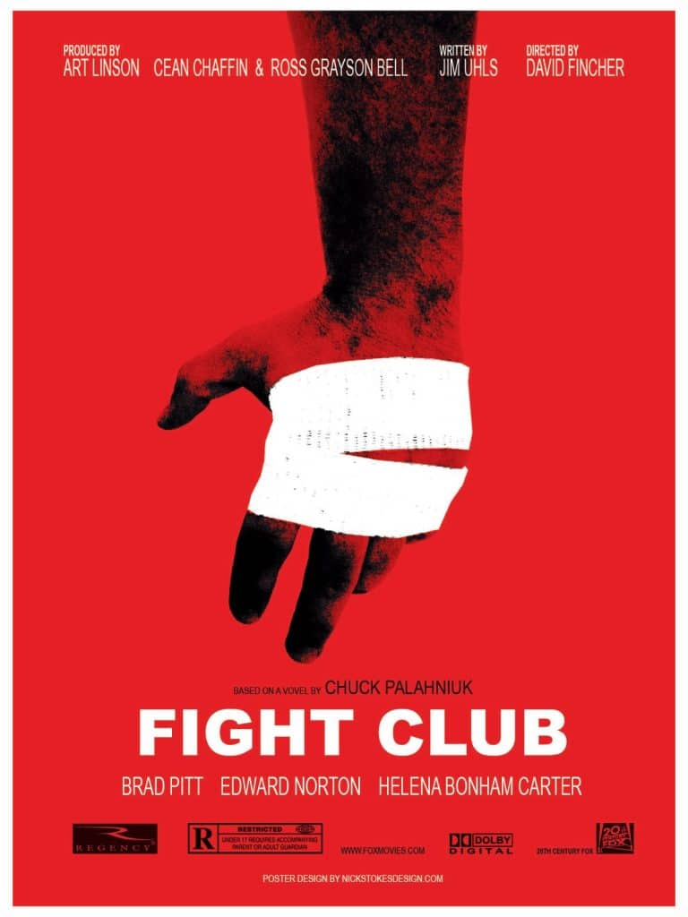 fight club high quality HD printable wallpapers poster art red fight blood