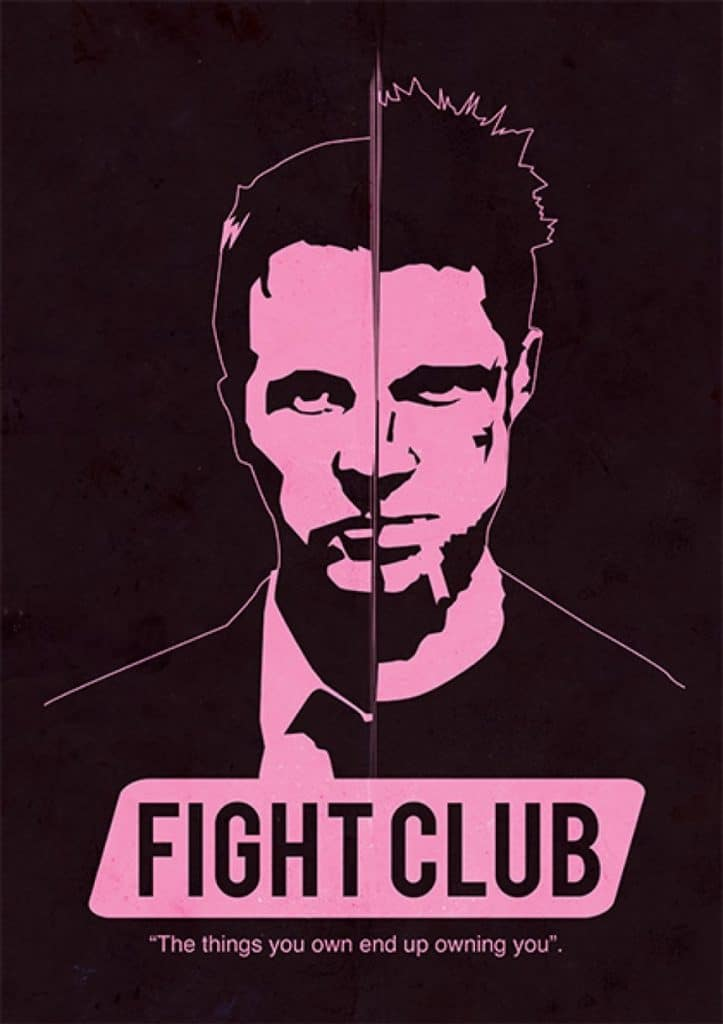 fight club high quality HD printable wallpapers poster both tyler durden jack durden art animated cartoon