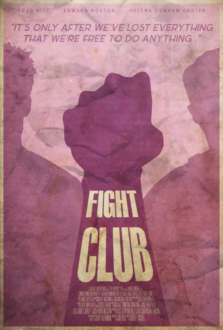 fight club high quality HD printable wallpapers poster classic old poster art animated cartoon