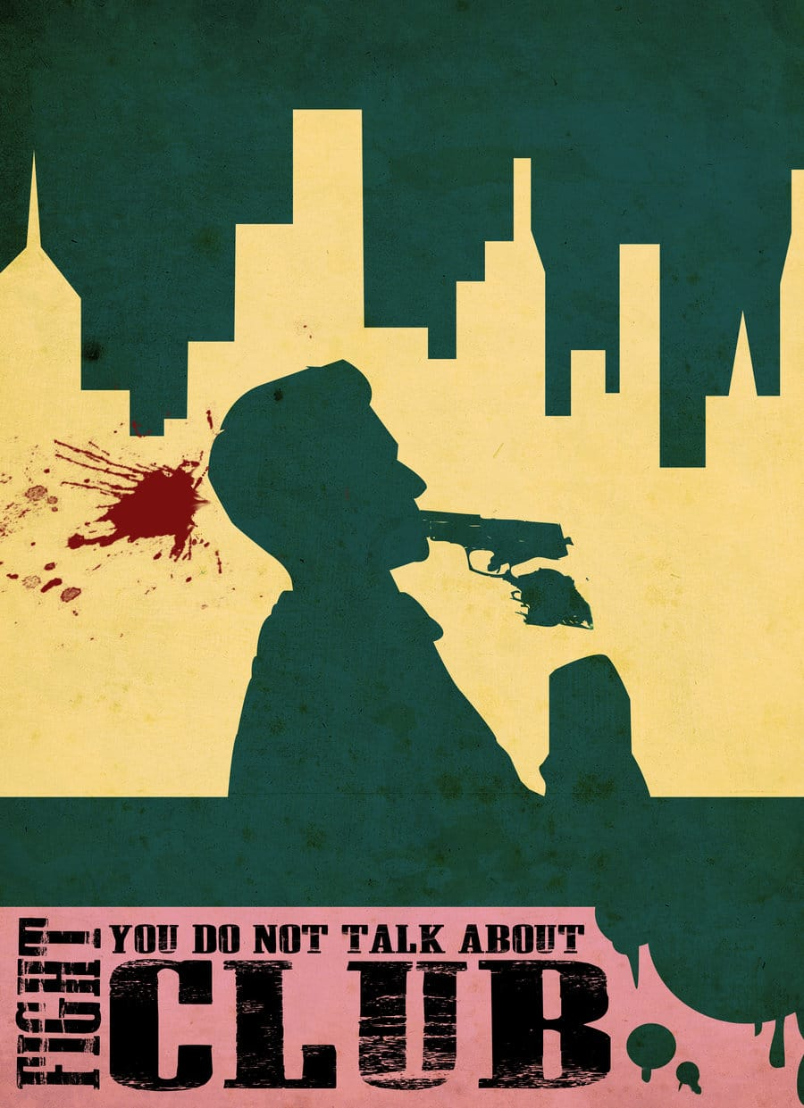 fight club high quality HD printable wallpapers poster tyler killing himself art animated