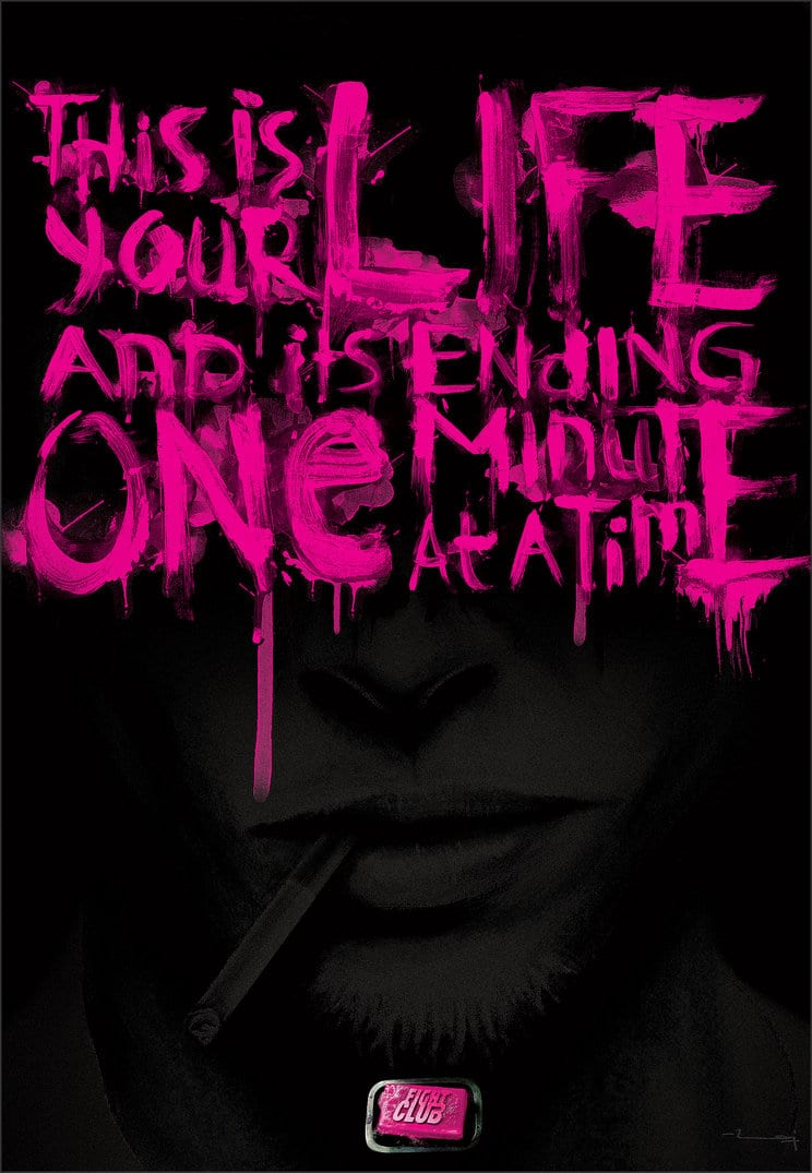 fight club high quality HD printable wallpapers poster quote art pink black