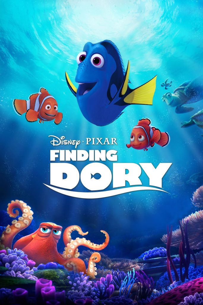 finding dory high quality HD printable wallpapers poster all characters dory nemo marlin hank octopus together