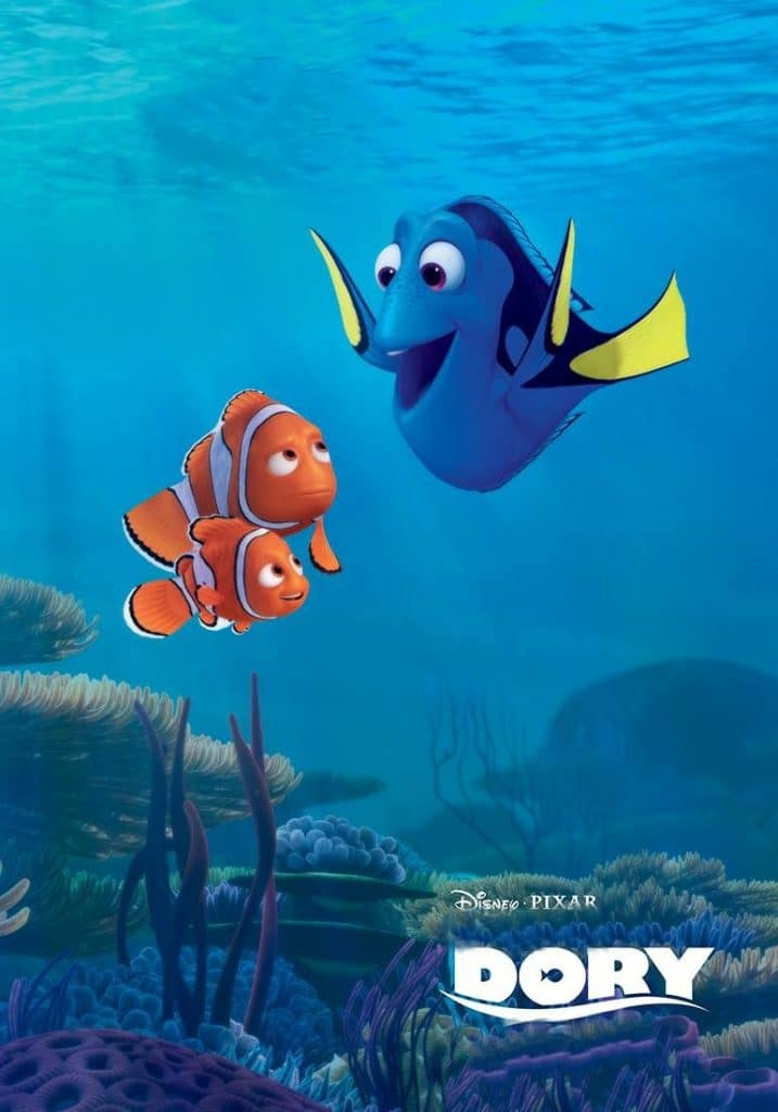 finding dory high quality HD printable wallpapers poster dory nemo and marlin find each other