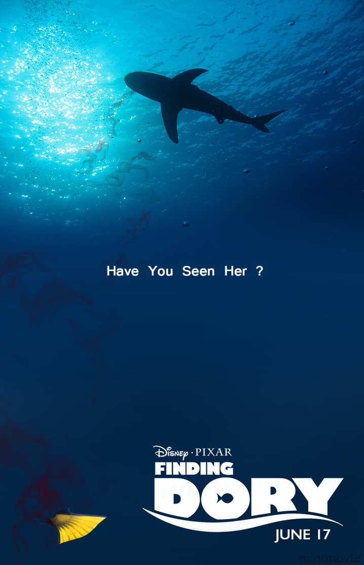 finding dory high quality HD printable wallpapers poster shark kill dory scene poster