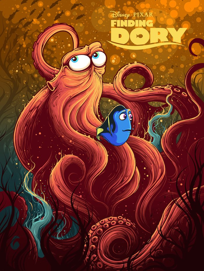 finding dory high quality HD printable wallpapers poster art cartoon octopus septopus hank dory