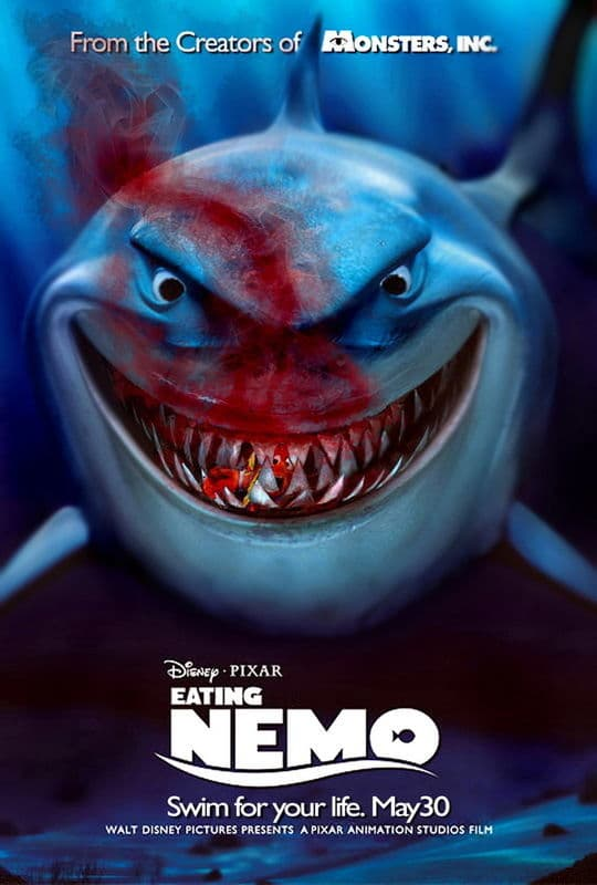 finding nemo poster high quality HD printable wallpapers bruce killing marlin and dory