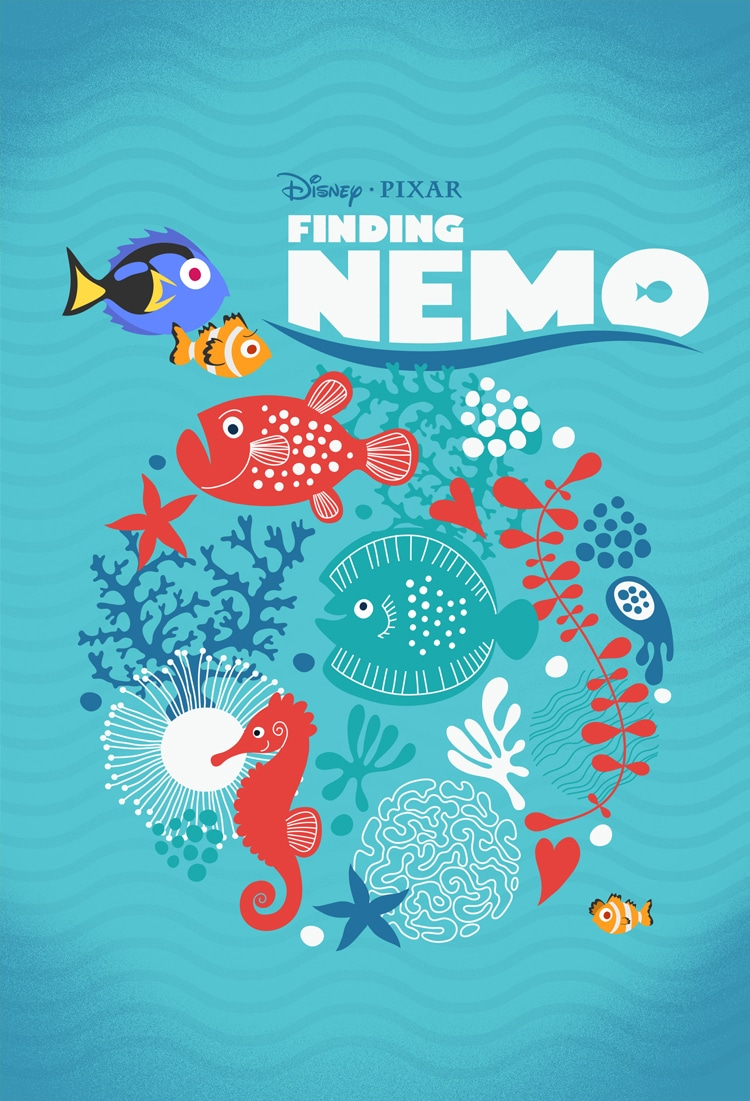 finding nemo poster high quality HD printable wallpapers art poster all characters