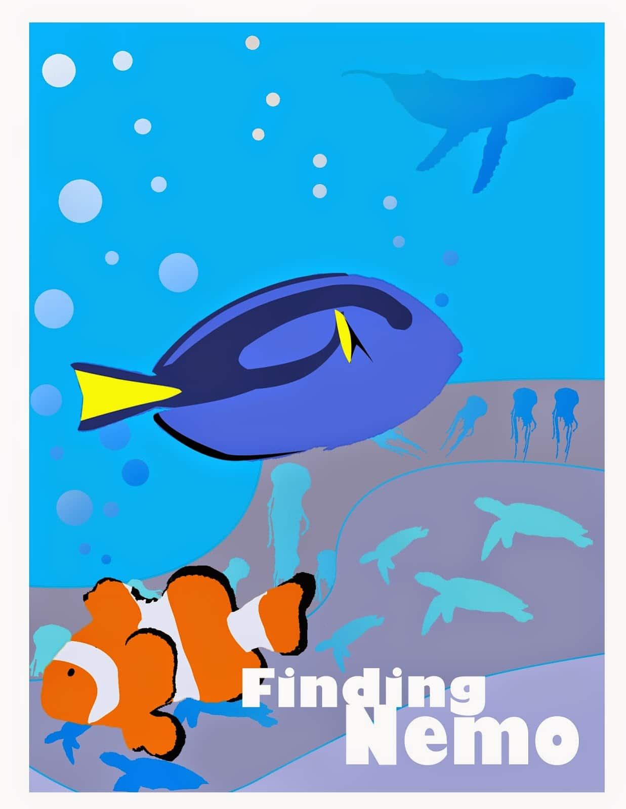 finding nemo poster high quality HD printable wallpapers art dory and marlin find whale