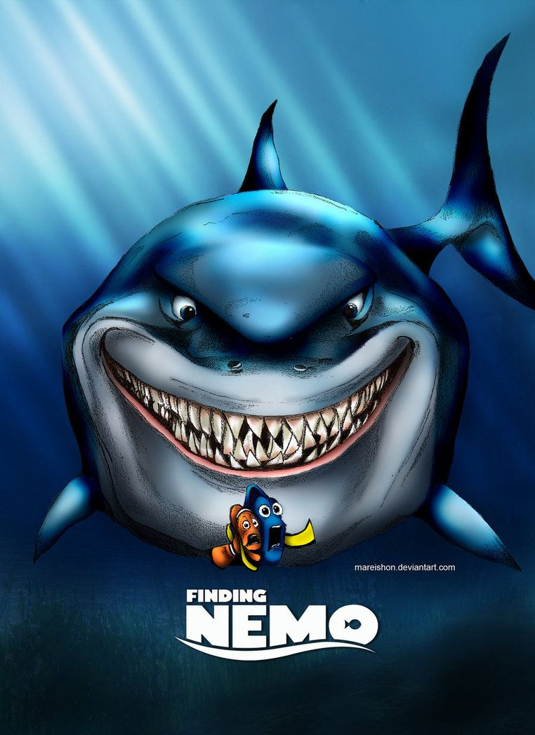 finding nemo poster high quality HD printable wallpapers bruce shark scene