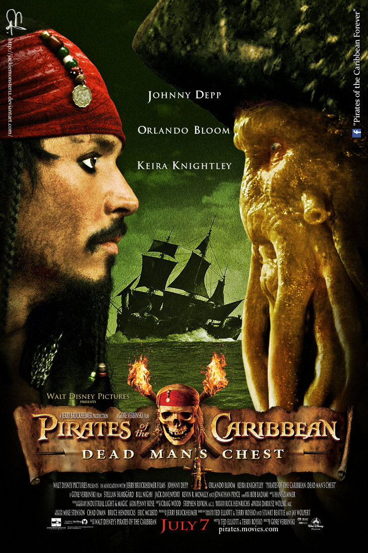 pirates of the caribbean poster dead man's chest high quality HD printable wallpapers davy jones and jack sparrow black pearl