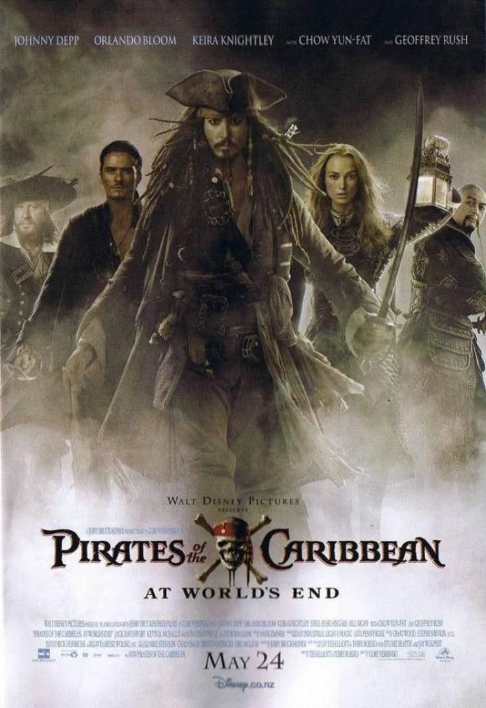pirates of the caribbean poster at world's end high quality HD printable wallpapers official poster all characters coming out of fog