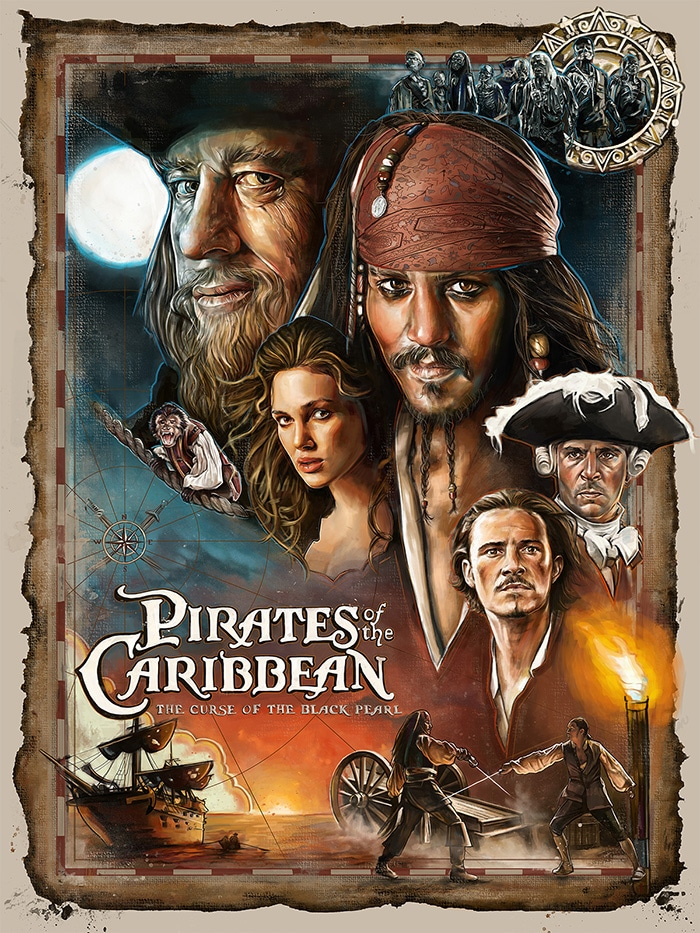 pirates of the caribbean poster the curse of black pearl high quality HD printable wallpapers art classic poster