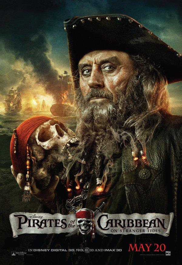 pirates of the caribbean poster on stranger tides high quality HD printable wallpapers black beard magic