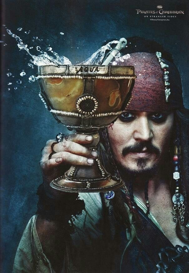 pirates of the caribbean poster on stranger tides high quality HD printable wallpapers jack sparrow cheers scene the silver chalice