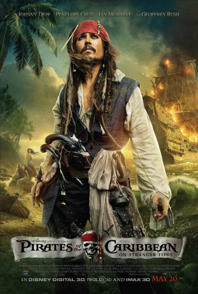 pirates of the caribbean poster on stranger tides high quality HD printable wallpapers official poster jack sparrow jonny depp