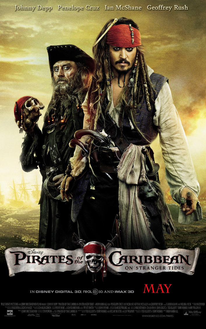 pirates of the caribbean poster on stranger tides high quality HD printable wallpapers jack sparrow and black beard