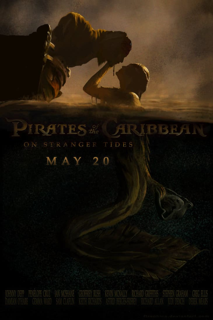 pirates of the caribbean poster on stranger tides high quality HD printable wallpapers mermaids song scene
