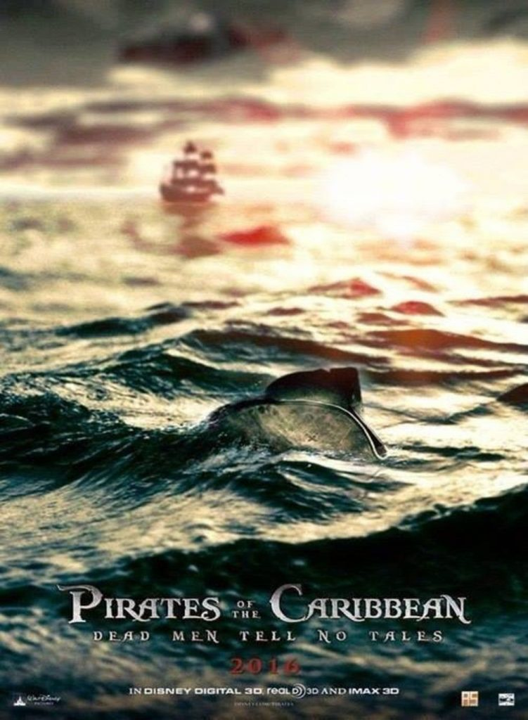 pirates of the caribbean poster dead men tell no tale high quality HD printable wallpapers jack sparrow's hat in the sea
