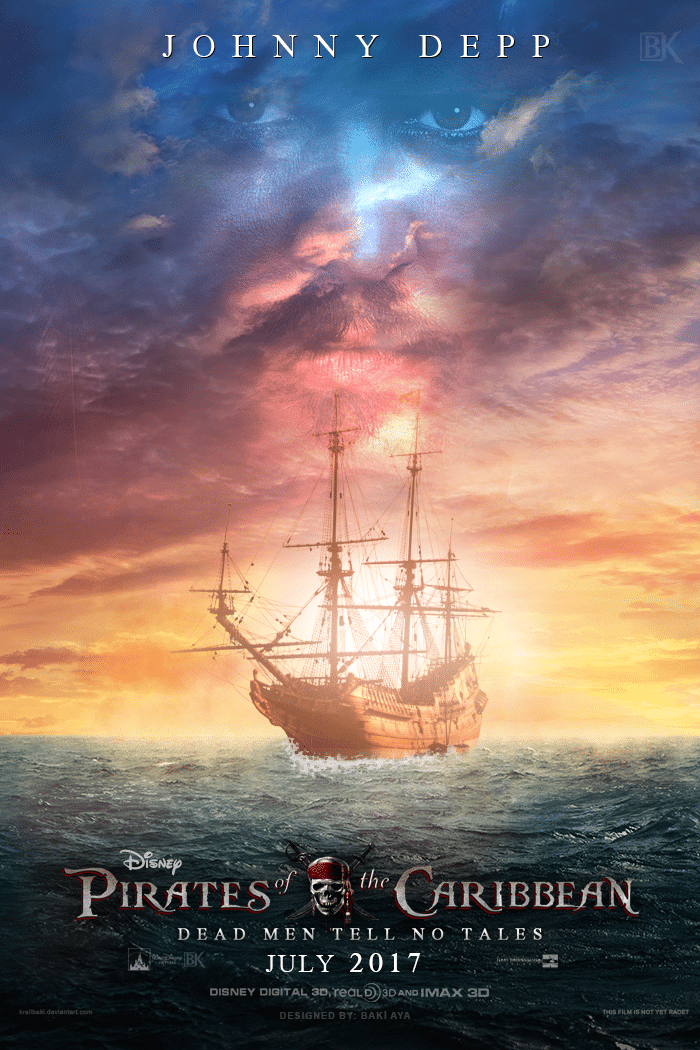 pirates of the caribbean poster dead men tell no tale high quality HD printable wallpapers black pearl in the sea in sunset