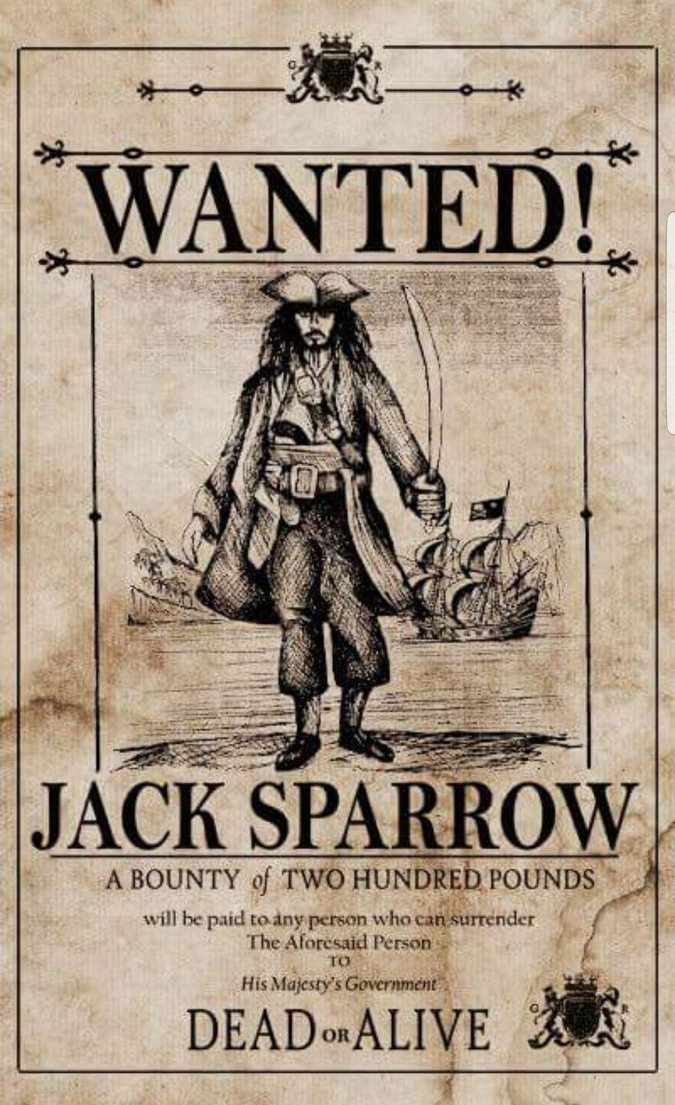 pirates of the caribbean poster high quality HD printable wallpapers jack sparrow most wanted poster