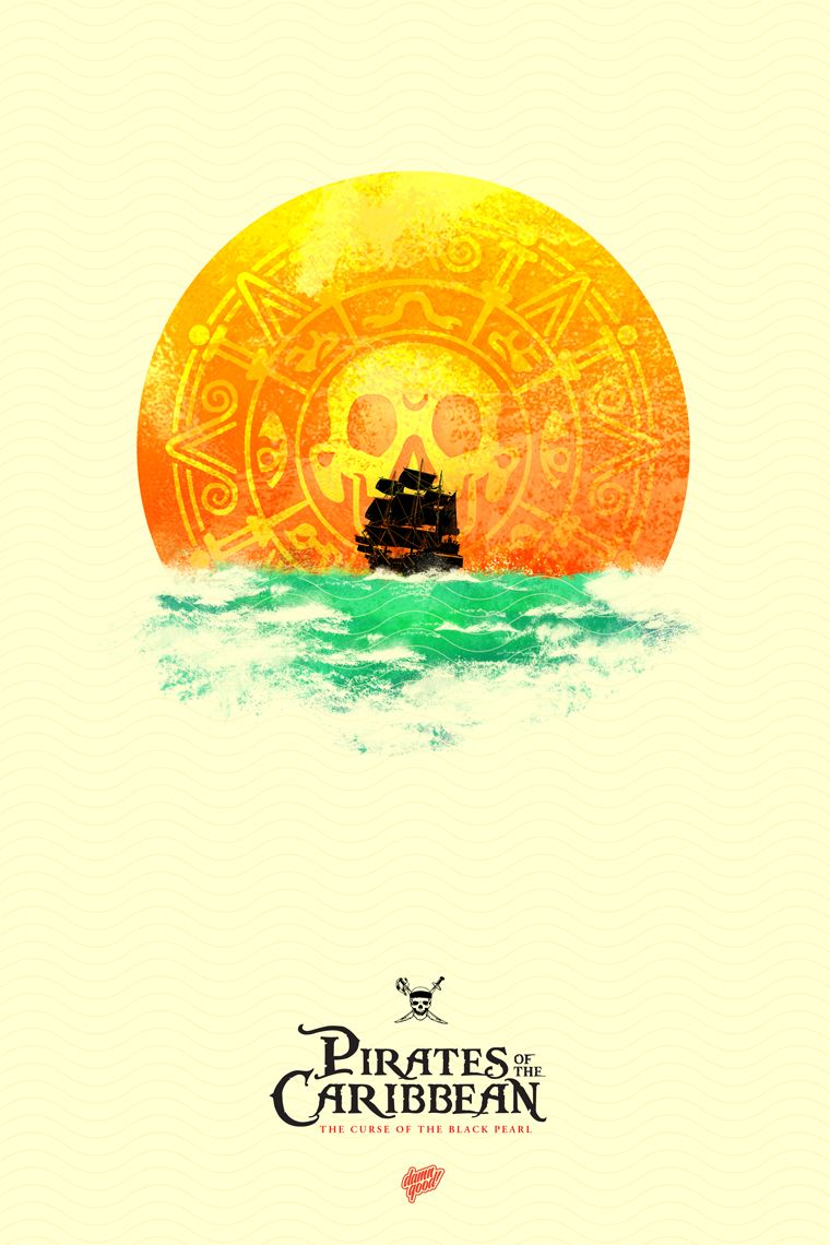 pirates of the caribbean poster the curse of black pearl high quality HD printable wallpapers art ship sunset sea