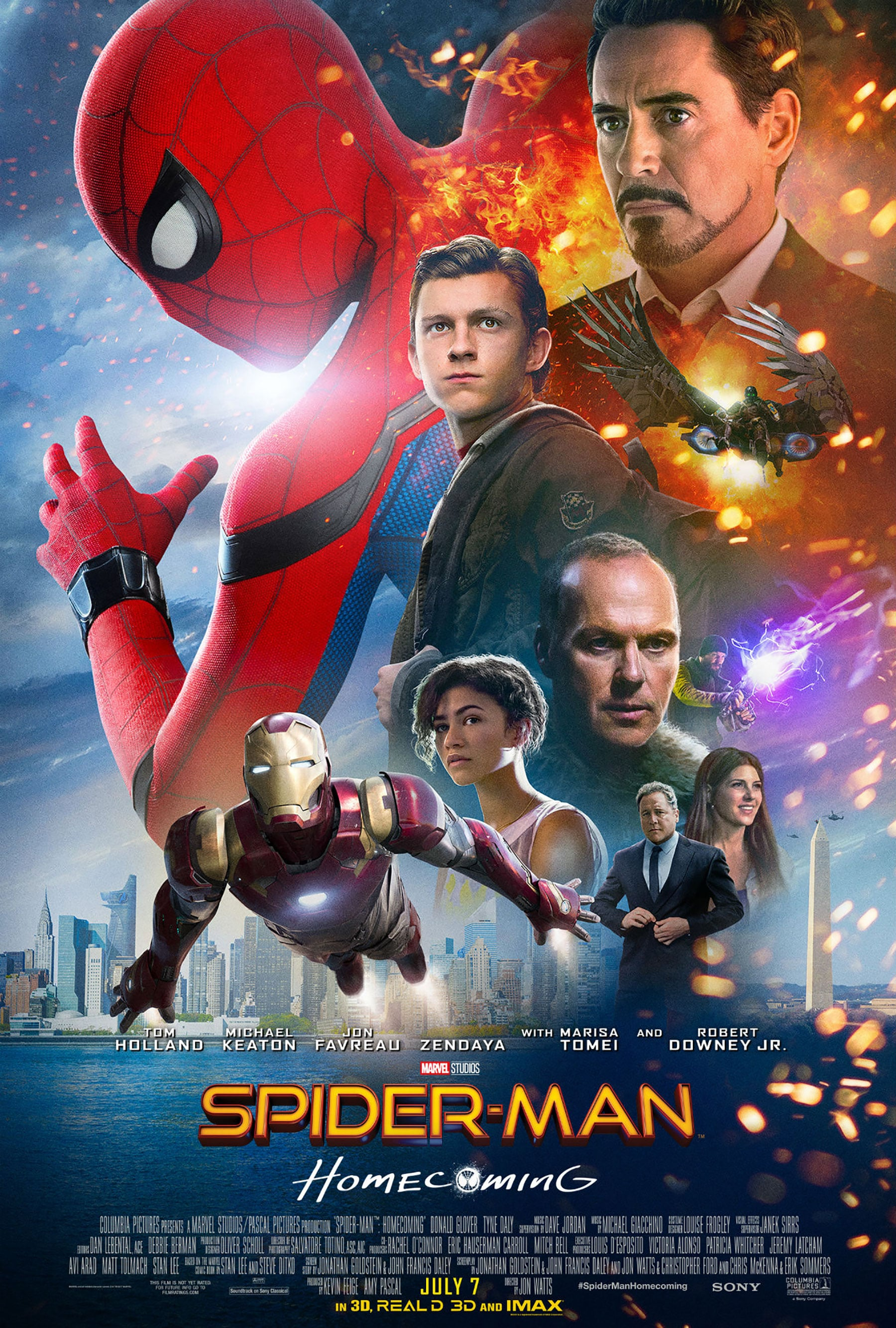 spiderman homecoming poster high quality HD printable wallpapers all characters official poster iron man tony stark
