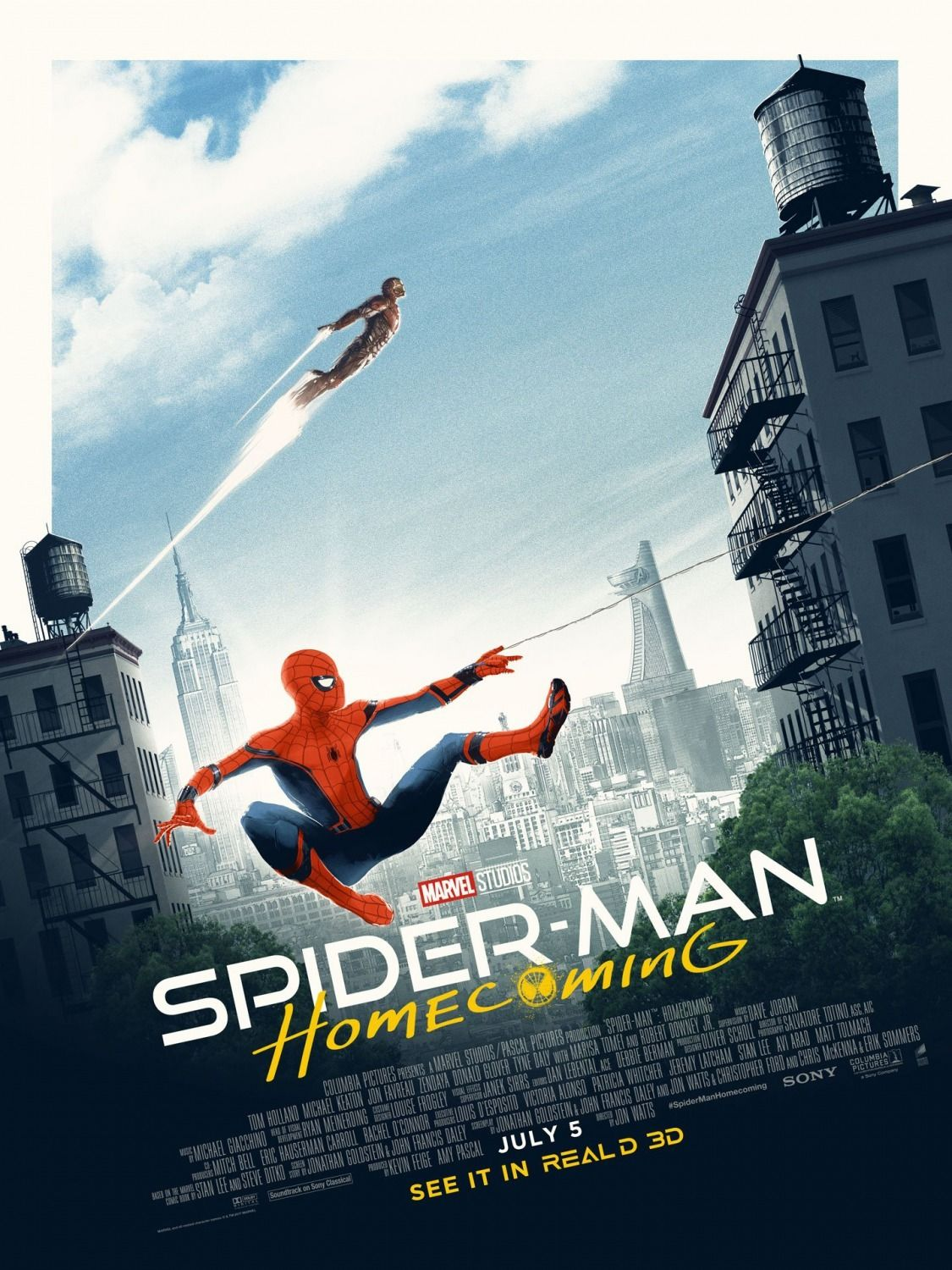 spiderman homecoming poster high quality HD printable wallpapers iron man and spiderman ship scene