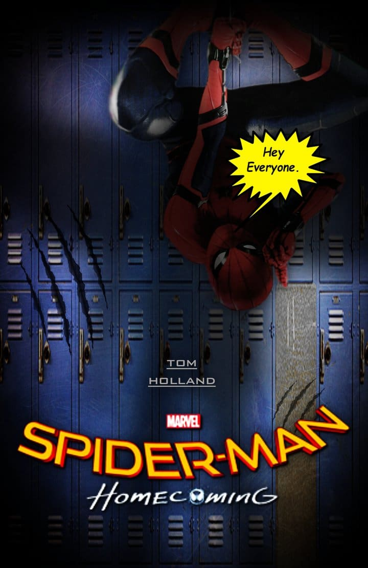 spiderman homecoming poster high quality HD printable wallpapers funny spiderman in dark