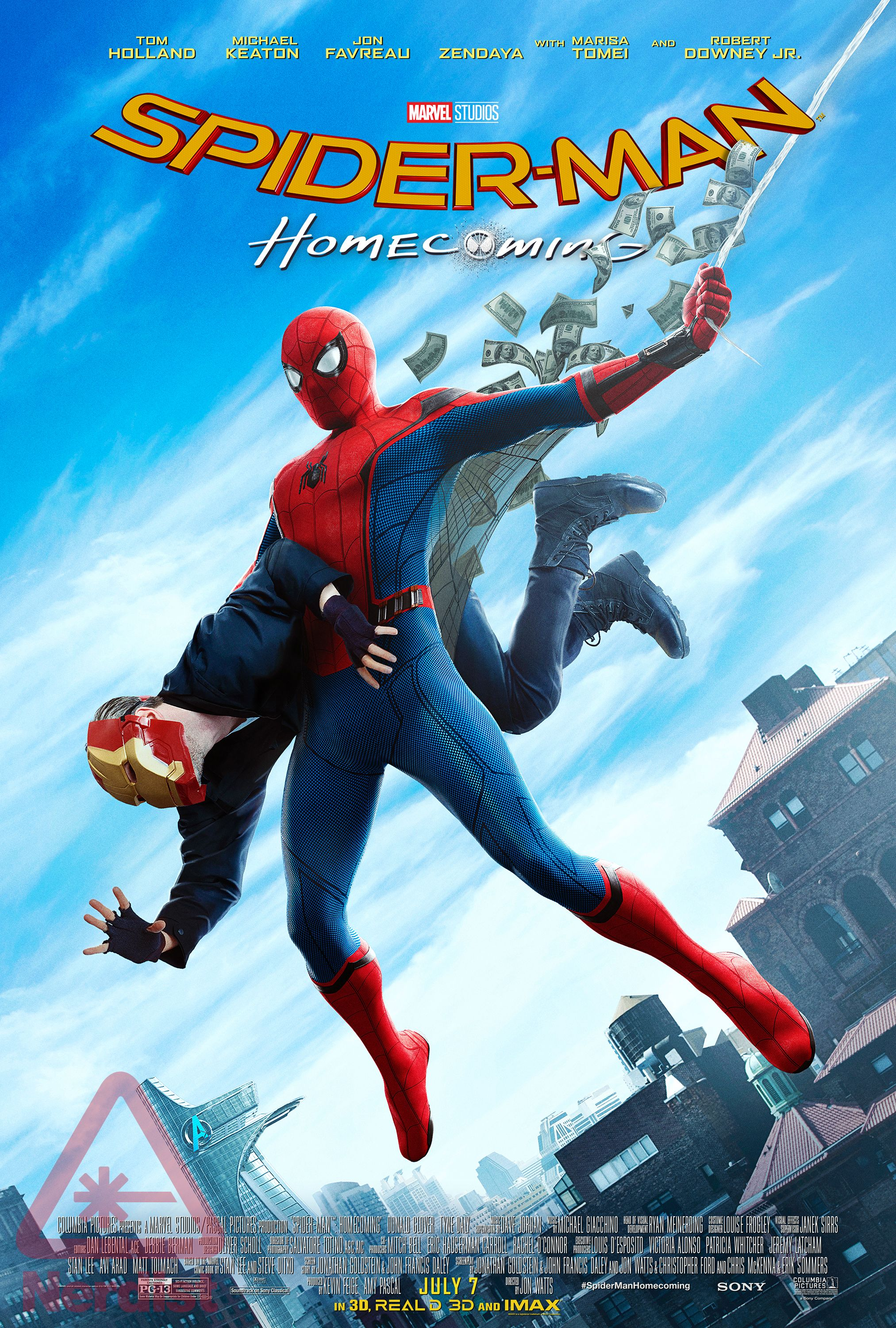 spiderman homecoming poster high quality HD printable wallpapers old style new comic book style movie poster spiderman catching thief