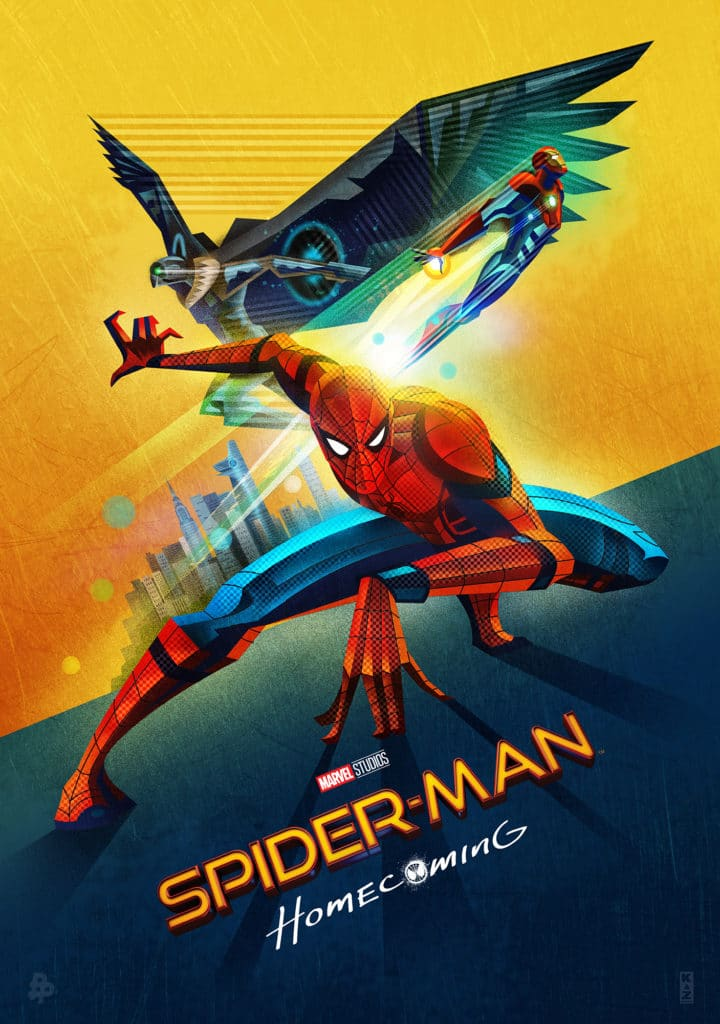 spiderman homecoming poster high quality HD printable wallpapers animated cartoon spiderman and iron man