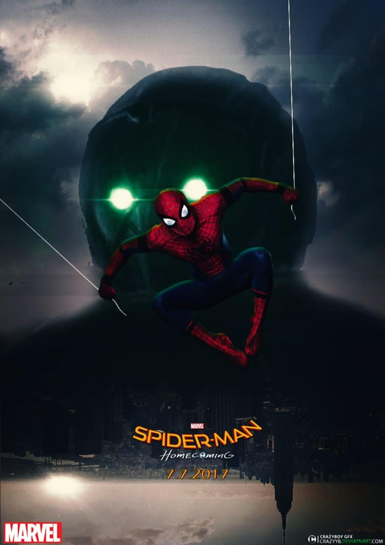 spiderman homecoming poster high quality HD printable wallpapers scary vulture shocker vs spiderman