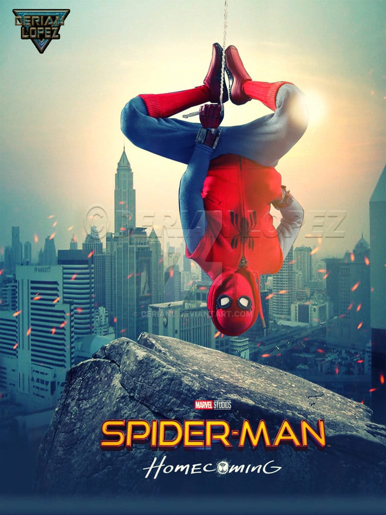 spiderman homecoming poster high quality HD printable wallpapers homemade spiderman