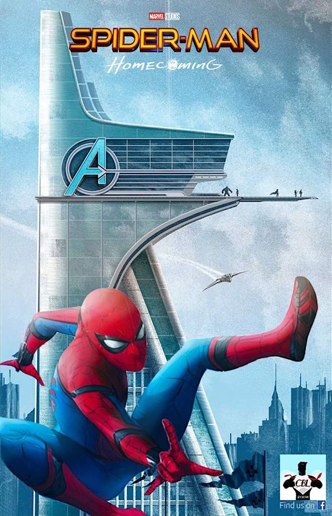 spiderman homecoming poster high quality HD printable wallpapers stark tower in the movie spiderman avengers headquarter