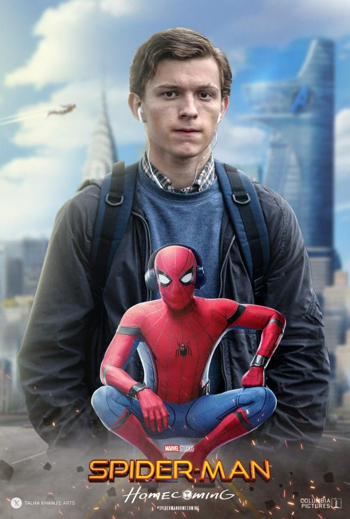 spiderman homecoming poster high quality HD printable wallpapers peter parker and the cool spiderman in one poster